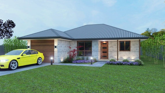 126 m2 3 Bedroom & single garage small 3 bedroom plans