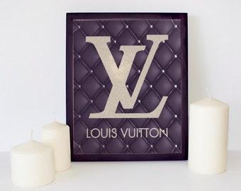 Leather Louis Vuitton, Louis Vuitton Sign, Fashion Wall Art, Louis Vuitton Poster, Louis Vuitton Decor, Louis Vuitton Print, Fashion Logo