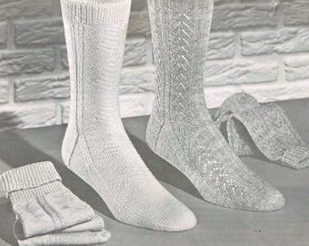 Vintage Sock Knitting Pattern for Men and Women - Retro Socks - PDF knitting pattern - Knitting patterns for women - Knotty pines Swordfish
