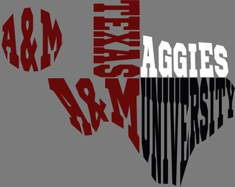 A&M Texas SVG DXF