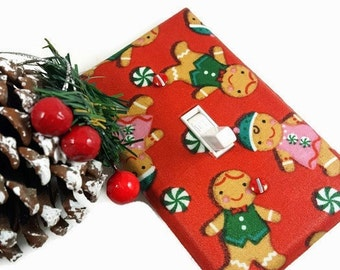 Christmas Decor | Holiday Decor | Christmas Light Switch Cover | Christmas Decorations | Gingerbread Men | Suiteplat