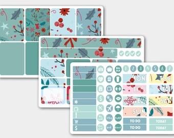 Winter Sticker Kit, , Weekly Sticker Kit, Planner Stickers, Stickers