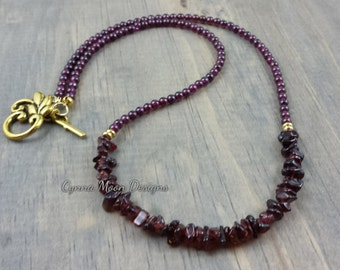 Genuine Garnet Necklace