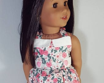 18 inch doll clothes Garden in Mint Top