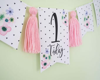 First Birthday Banner/Bunting