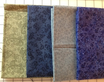 Blue and Green Fabric Bundle - cotton