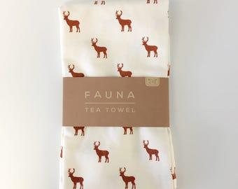 Stag Fauna Teatowel
