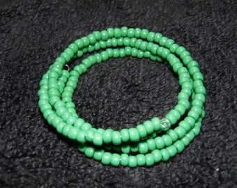 Venetian Seed Bead Memory Wire Bracelet