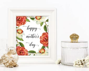 Mothers day poster Mothers day Printable Happy mothers day For Mom Mother Day Poster Printable Mother, Mom Quote, Mom Decor Mothers day gift