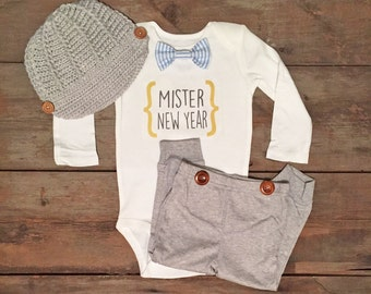 New Years Baby Boy Outfit, Baby Boy New Years Outfit, My First New Years, New Years Outfit for Boy, Baby New Years Bodysuit, New Years Shirt