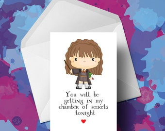 Harry Potter - Hermione Granger - Valentines Card - Humour