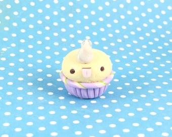 Unicorn Cupcake Charm - Polymer Clay