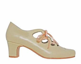 Amber Nude - wedding shoes. 100% leather-shipping free