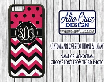 Personalized Monogrammed cell phone case, iPhone or Galaxy, name or monogram #137