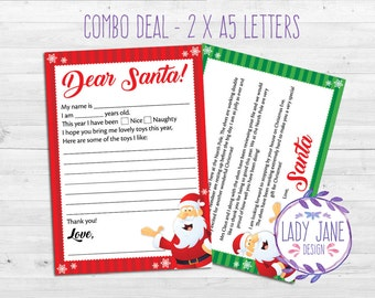 items similar to digital print letter from santa santa letter