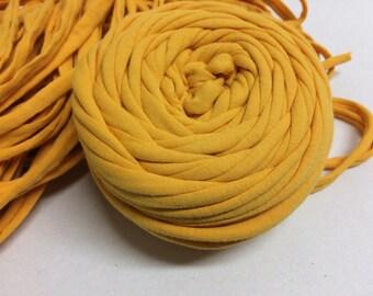 fabric yarn 20meters Yellow T-shirt yarn yellow tshirt yarn zpagetti yarn yellow tricot yarn cotton yarn yellow