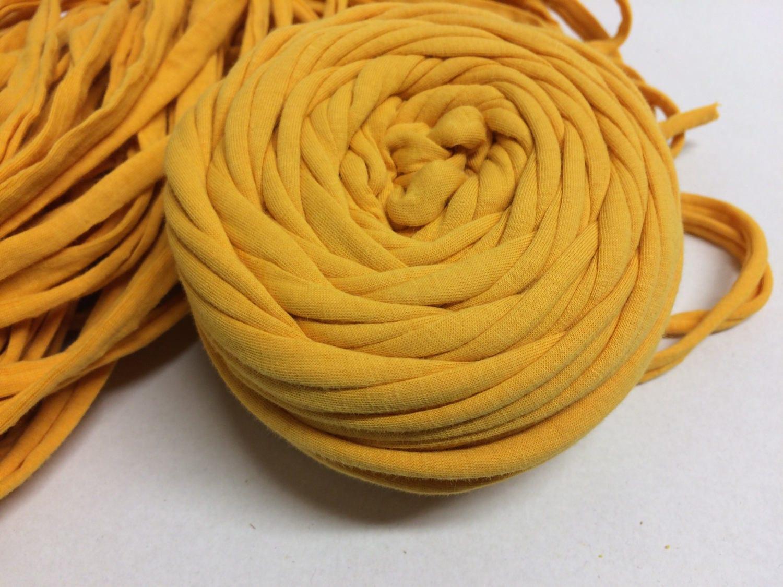 fabric yarn 20meters yellow t shirt yarn yellow tshirt