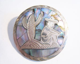 Sterling Abalone Mexico  Pin