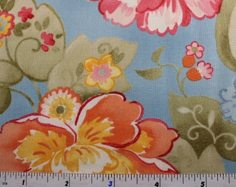 Nanette by  Chez Moi for Moda Fabrics  33160 Blue (13) Pink (12) Yellow ( 14) and Cream (11)