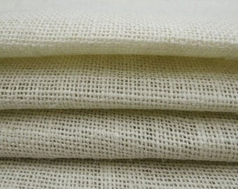 "Off White Jute Fabric, Rustic Fabric, Burlap Fabric, Off White Burlap, Home Accessories, 49"" Inch Wide Jute Fabric By The Yard ZJC36A"