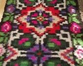 Romanian Romania russian Ukrainian Vintage Blanket woolen Handmade woolen sheath retro Bed Cover Hutsul blanket Warm flooring
