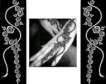 Popular Henna Sticker Temporary Tattoo Body Art Mahndi Stencil Indian/Arabic Eid Wedding