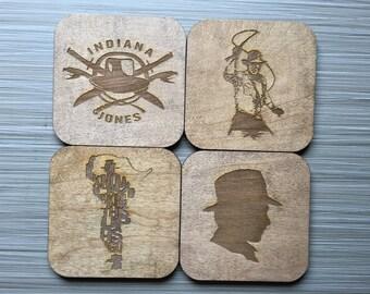 Indiana Jones Inspired Wood Coasters