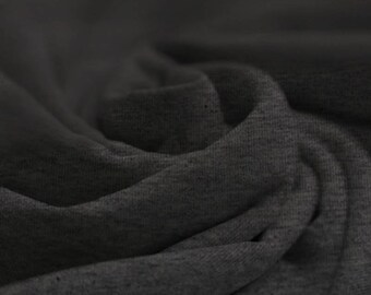 Dark Grey Flecked - Cotton Lycra Jersey Knit Fabric