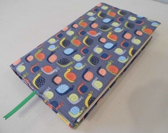 Little Snails Handmade Fabric Book Cover