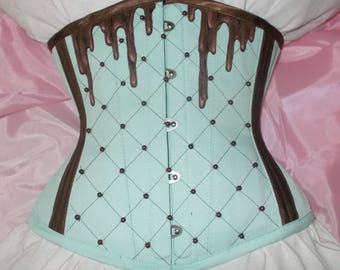MADE TO ORDER sweet chocolate corset underbust