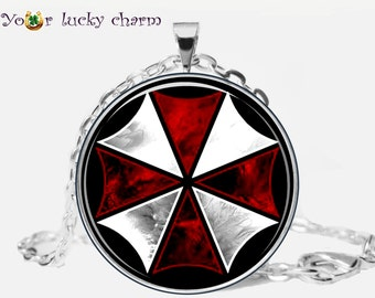 Necklace, Resident evil, Umbrella corporation, Pendant, gift for Her, gift for Him, gift  jewelry