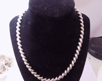 Stunning sterling silver San Marco necklace 18 inches long
