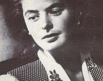 Ingrid Bergman Vintage Poster