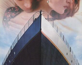 Titanic Leonardo DiCaprio Kate Winslet Hug  Rare Vintage Poster