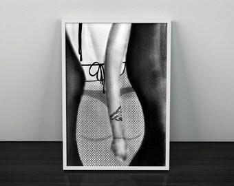 Female Silhouette Art Print