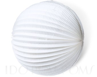 White Orchid  Accordion Paper Lanterns - Wedding Party Decorations - Birthday Decorations - Baby shower - Hanging decorations