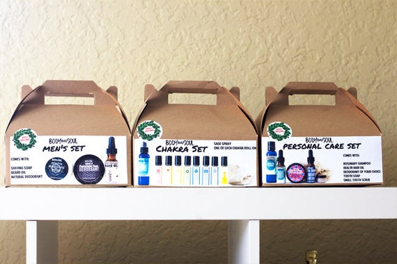 Natural Body Care Gift Sets! Personal Care, Chakras or Men's Sets
