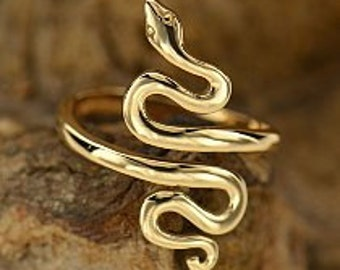 Bronze Snake Ring. Natural Bronze. Bronze Ring. Bronze Snake. Snake Ring. Natural Bronze Snake. Antique Bronze. Oxidized Bronze.  233