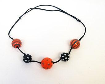 Necklace from ceramic beads /Ожерелье из керамических бусин. Бусы.