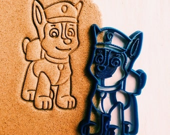 Cookie Cutter Paw patrol Chase cookiecutter cookies custom shape custom size custom picture mature