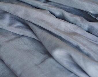Grey Silk Cotton Fabric