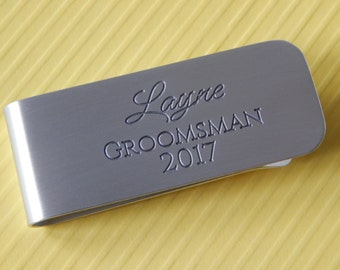 Engraved Money Clip Custom Money Clip Personalized Money Clip Groomsmen Father of the Bride Groom Gift Anniversary Father's Day Birthday