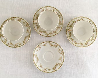 Theodore Haviland Limoges France Cup and Saucer Sets