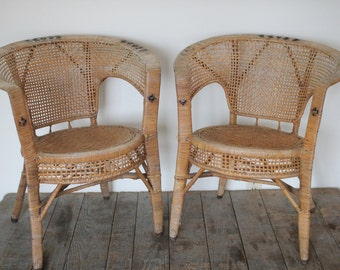 Wicker furniture Etsy