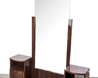 Magnificent Art Deco Vanity / Commode With Mirror