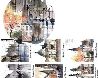 Sentimental City #2 // Decorative Washi Tape // City Series // Scrapbook, Journal, Planner Essentials