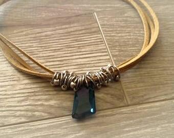 RAS neck blue Montana, Choker Necklace, Choker Necklace, Crystal swavorski Sweden