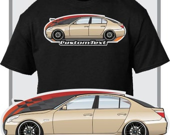 Custom Art T Shirt For E60 03 10 BMW M5 Sedan B5 S 525i