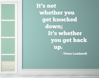 Get Back Up - Vinyl Wall Decal Quote