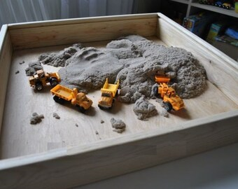Wooden Sensory Box, Wooden Sandbox, Discovery Box For Sensory Play, Mini  Zen Garden